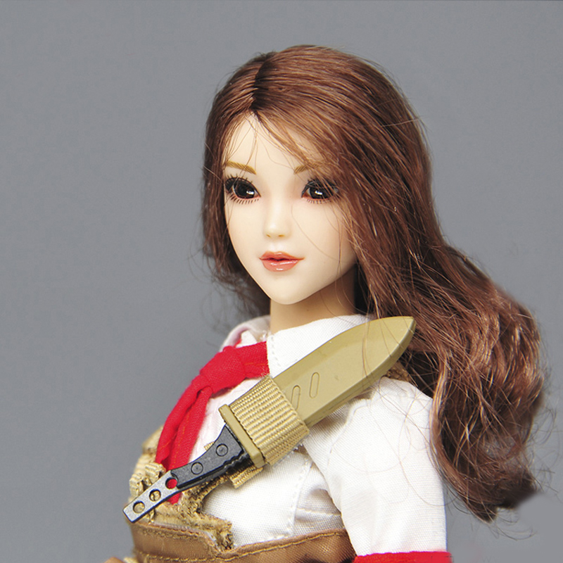 1/6 Beautiful Girl Blink Female Head Sculpt Toys Phicen Female Body Part for 12 Action Figure Doll Toys Eyes Movable Only Head
