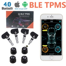 Новое поступление BLE TPMS Bluetooth TPMS шин Давление мониторинга Системы для IOS Android телефон приложение Дисплей с 4 Датчики
