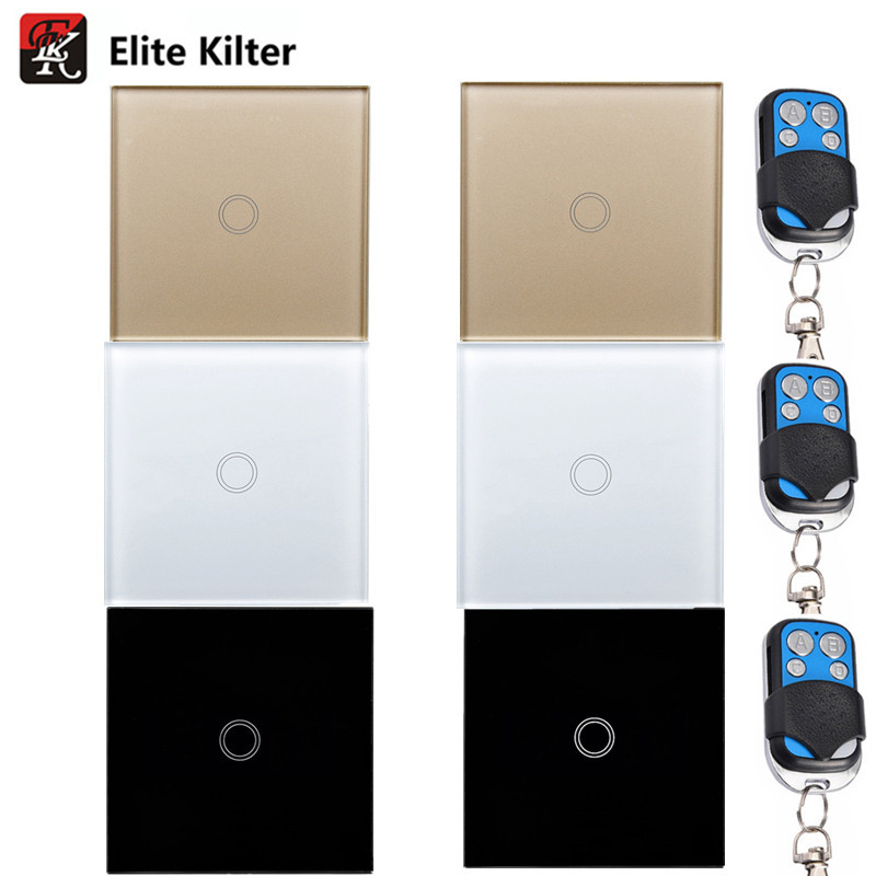 EU/UK Standard (EK) Touch-schalter 1 Gang 1 Way, Wandleuchte Touchscreen Schalter, wand touch-schalter AC170 ~ 250 V