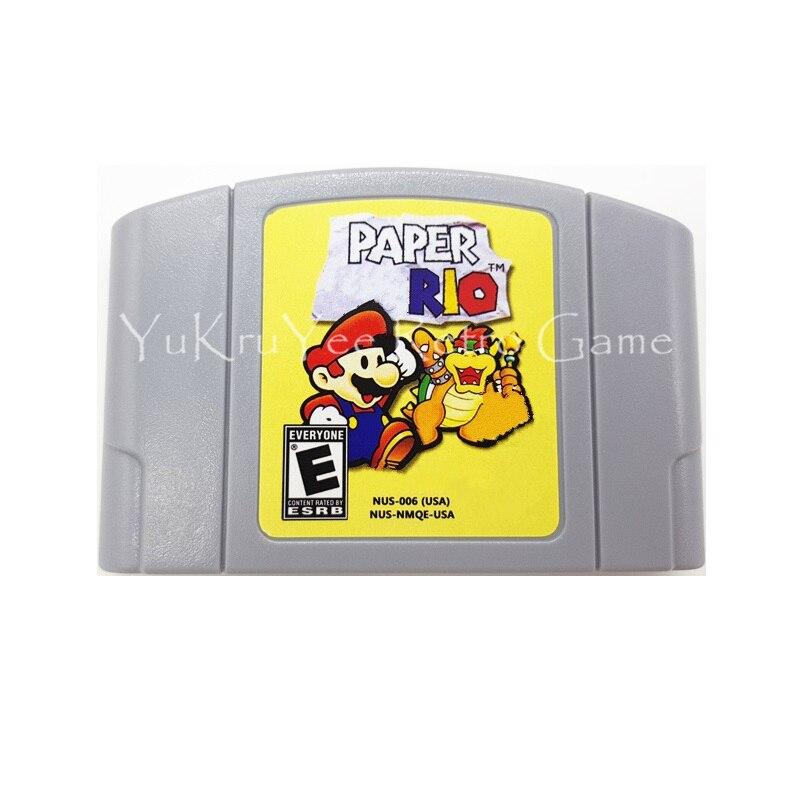Paper Mari Video Game Accessories Memory Cartridge Card  for 64 Bit Console US NTSC Version English Language