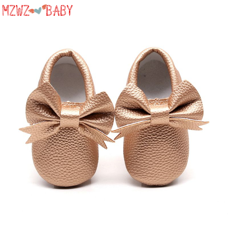 PU Baby Girls Shoes New Bow Knot Cute Newborn Baby Shoes For Girls  Prewalker First Walkers Child Kids Girls Shoes