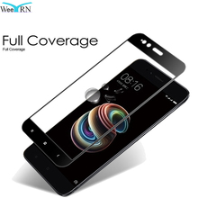 Купить с кэшбэком Black / White Tempered Glass Film for Xiaomi Mi A1 5X Mi5X Full Coverage Screen Protector Xiaomi Mi 5X MiA1 Mi A1