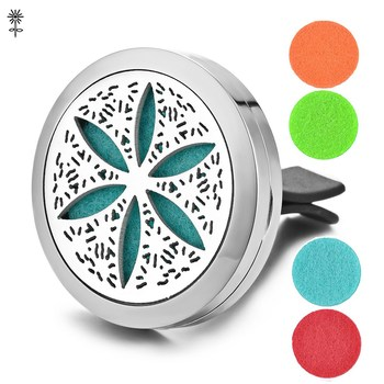Stainless Steel Essential Oil Diffuser Perfume Locket Bangle Bracelet Magnetic Opening with 5 Color Pads VA-497 image
