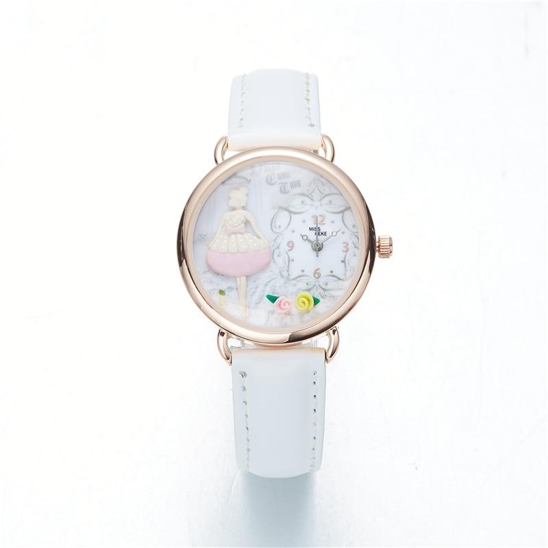 9f93c099361 2018 Jarní nový příjezd Clay Roztomilý krásný růžový dívka hodinky ...