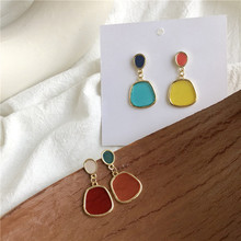 2019 New Geometric Earrings For Women Exaggerated Transparent Earring Irregular Brincos Solid Color boucle doreille femme