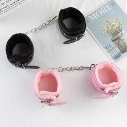 Секс SM игры из искусственной кожи наручники лодыжки манжеты Связывание бондаж раб Секс игрушки для пары и секса регулируемые наручники