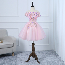 Dress-Gown Sweat Bridesmaid Lace Party-Performance Pink Princess Women New Short Girl