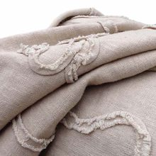 Chinese Natural Linen Embroidery Summer Fabric for Dress,Water Washed Ribbon Floral Apparel Sewing Fabric,Diy Cloth,Width130cm
