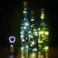 15 LED DIY Cork Light String Wine Bottle Stopper Copper Fairy Metal Strip Wire Halloween Christmas Wedding Party Decoration