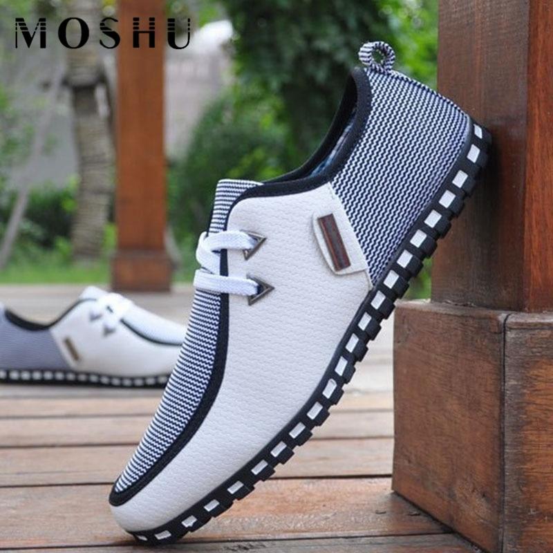 Di Estate di modo Sneakers Uomo Mocassini In Pelle Slip On Casual Scarpe Uomo Flats Bianco Driving Shoes SIZE 47 Da Ginnastica Zapatos Hombre