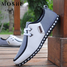 Fashion Summer Sneakers Leather Shoes Men Loafers Slip On Ca
