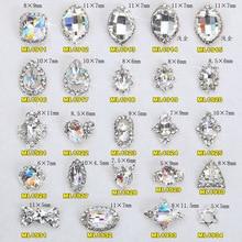 100pcs New K9 Top Quality Glitter Rhinestone Luxurious 3d Alloy Nail Sticker Decorations DIY Charm Jewelry Accessories 1911