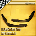 New 2Pcs Front Bumper Lip Spoiler FOR Mitsubishi Evolution 8 EVO VIII Carbon Fiber JP Style