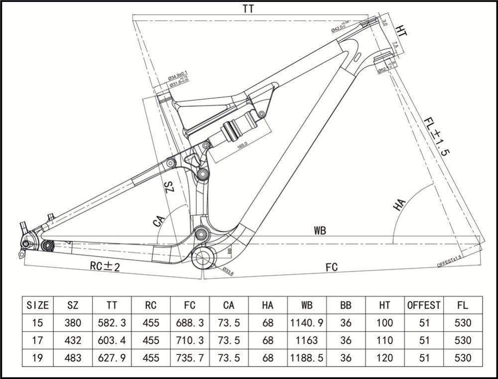 Spcycle Full Carbon Frame suspensión 29er marco del carbón MTB de la ...