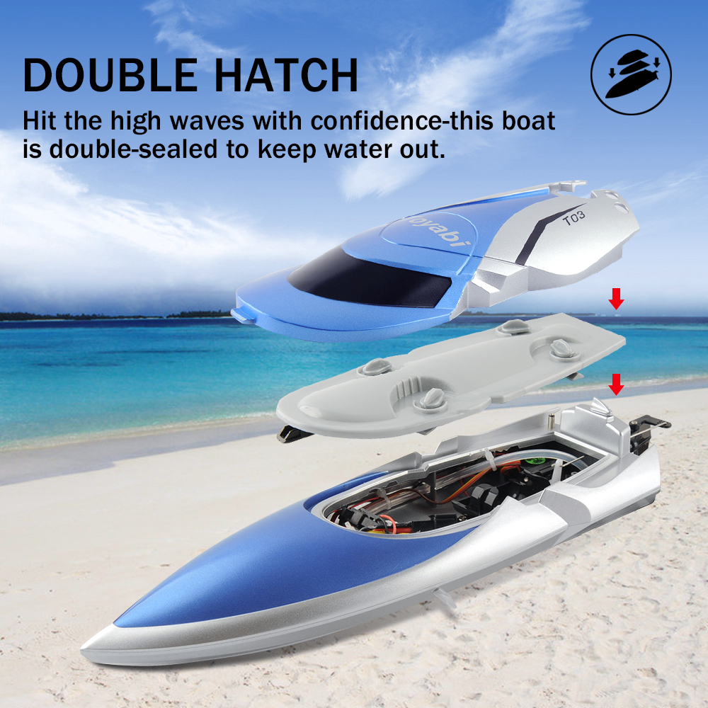 Image 5 - RC Boat 30km/h High Speed 2.4GHz 4 Channel Racing Remote Control Boat with LCD Screen as gift For children Toys Kids Xmas Gifts-in RC Boats from Toys & Hobbies