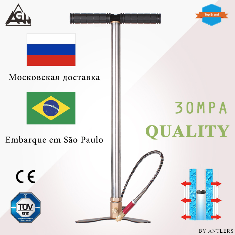 30Mpa 4500psi 200Bar 3 Stage High pressure Air PCP Rifle Paintball Diving hand pump with filter Mini Compressor not hill pump-in Pumps from Home Improvement