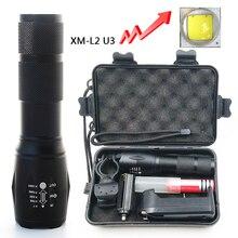 Litwod Z25A100 Cree XM-L2 U3 светодиодный фонарик, лампа 6000лм, алюминиевый водонепроницаемый зум, светодиодный портативный светильник для кемпинга, охоты