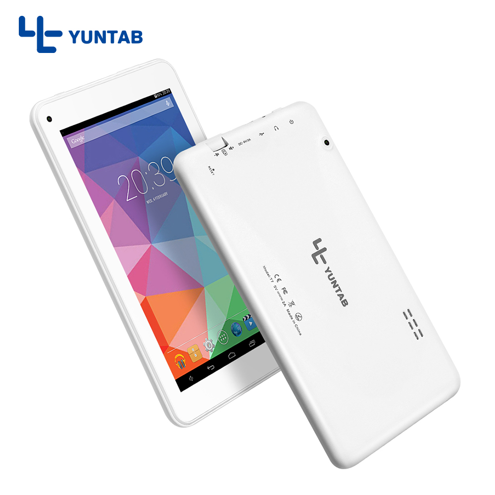 Yuntab 7inch T7 Android tablet PC Allwinner A33 Quad Core 512MB 8GB with Dual Camera 2200mAh battery yuntab 7inch e706 silver alloy android tablet pc quad core 1gb 8gb touch screen 1024x600 dual camera support sim card