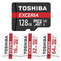 TOSHIBA Micro SD 64GB SDXC 32GB 16GB SDHC Class10 Highest Reading 90MB/S TF Memory Card Support Official Verification