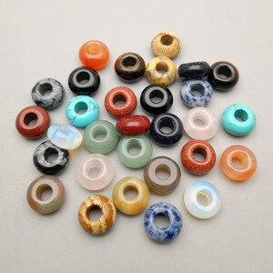 Image 1 - ファッション 36 ピース/ロット各種天然石ラウンド混合 14 × 8 ミリメートルビッグ hloe ビーズジュエリーメイキングのためにネックレスイヤリングアクセサリー