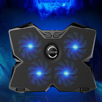 New Cooling Pad with Four 1200RPM 140mm Fans for 15.6 to 17 Inch Notebook Laptops JLRL88