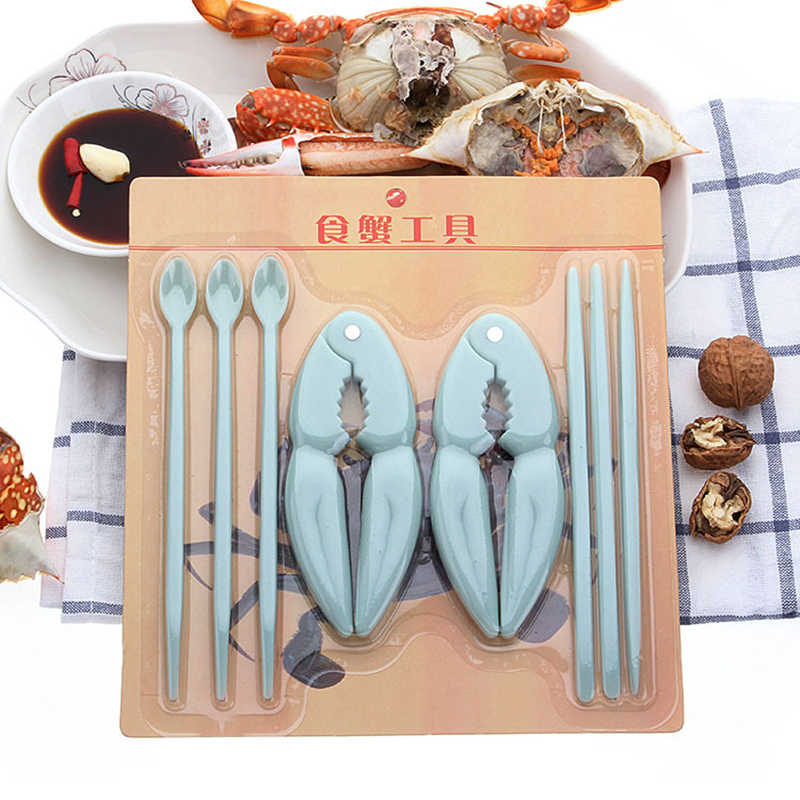 Seafood Tool 8pcs/set Professional Seafood Tool Plastic Spoon Crab Lobster Crab Cracker Shell Opener Kitchen Accessories