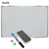 Kicute 600x900MM Magnetic Dry Erase Whiteboard Writing Board Double Side With Pen Erase Magnets Buttons For