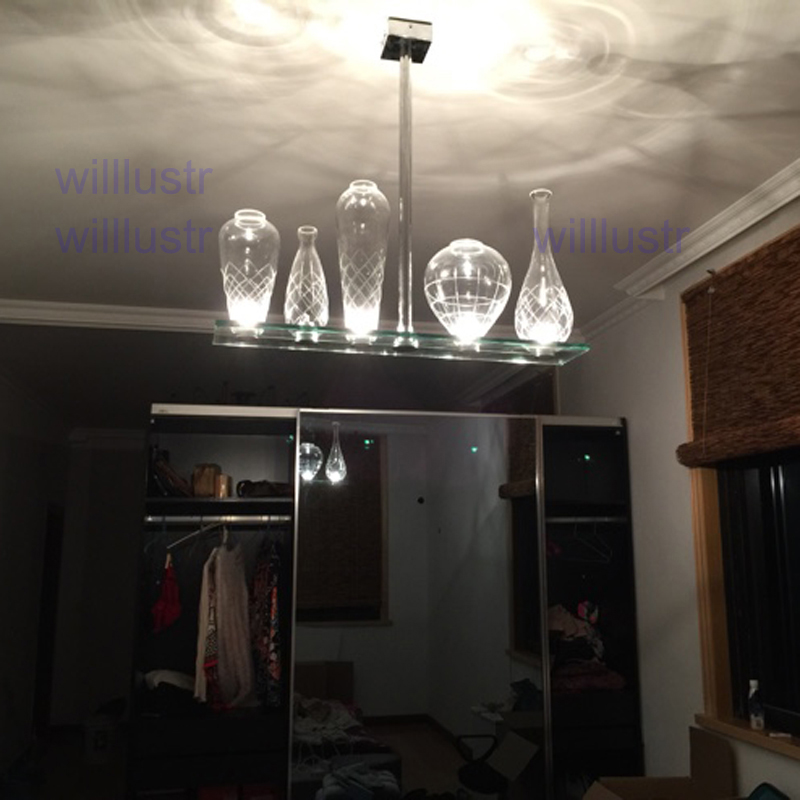 Willr Cicatrices De Luxe Crystal Pendant Lamp Philippe Starck Design Engraved Glass Bottle Chandelier Hanging Light In Lights From