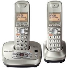 2 Teléfonos KX-TG4021 Dect-6.0 Teléfono Inalámbrico con Contestador automático digital de plata