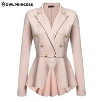 Madam clothing OLWPIRNCESS Slim Blazers Women Suit Jacket Black Double Button Business Blazer Coat Elegant Femme