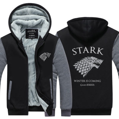 Game of Thrones cosplay Stark Family Hoodie Coat Sweatshirt Thicken Jacket Zipper  A Song of Ice and Fire Targaryen Wolf head