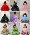 Fashion Princess Party Dress Evening Gown Mix Style Handmade Clothing Skirt Outfit Accessories For Kurhn Barbie Doll New 2015