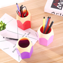 Makeup Brush Holder Desk Stationery Container Modern Creative Pen Vase Pencil Pot Desktop Pen Holder Desk Tidy Containe Box new(China)