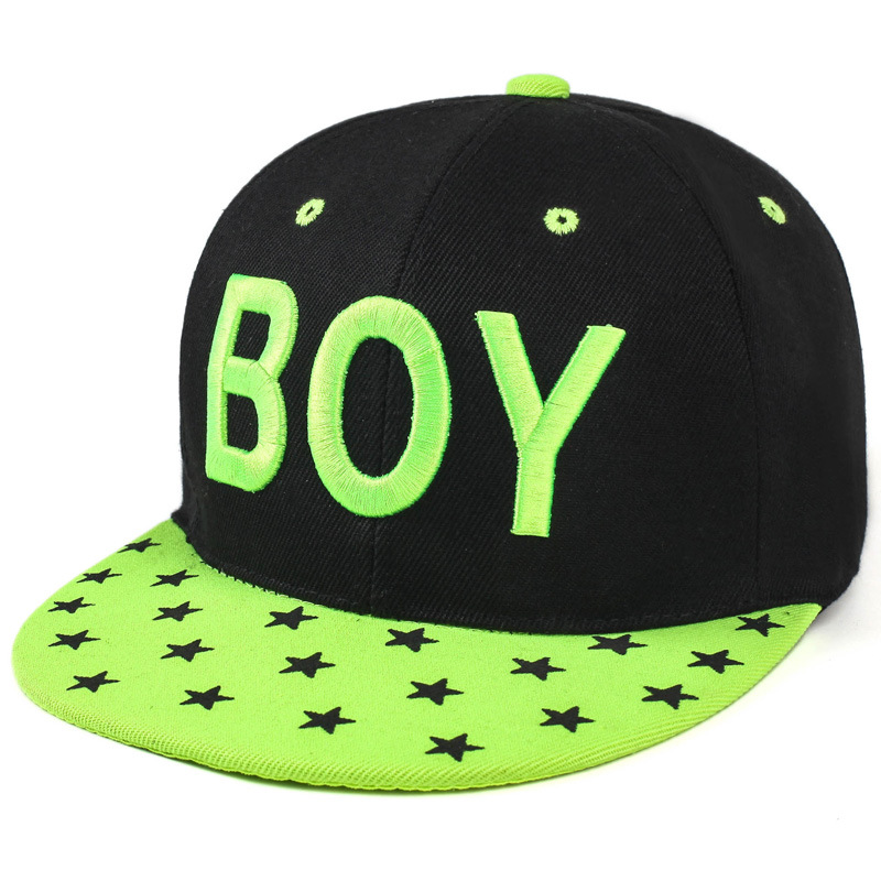 1Piece 2017Fashion Unisex Big letter embroidery Baseball Hiphop Cap Star on visor snapback cap