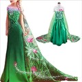 Girl Clothes Princess Elsa Anna Dress Fancy Carnival Party Hollween Costume Fever Elsa Children Clothing Snow Queen Dresses Girl