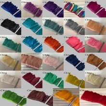 Kostenloser Versand 14 Meter Multicolors Gans Feder Trimmen 13 20cm Höhe Gans Feder Fransen auf satin Bänder