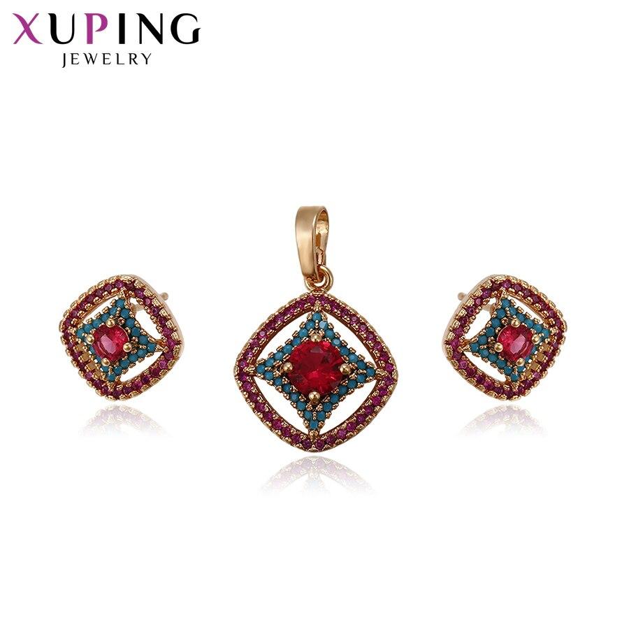 11,11 сделок Xuping элегантный благородный полые узор Jewelry наборы с синтетическими CZ украшения для Для женщин Рождество подарок S61-64207