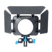 85mm 3 Ostrza Matte Box Follow Focus Osłona obiektywu Aparatu Widza Regulowana Wysokość do 15mm Prowadnicy do LUSTRZANEK CYFROWYCH kamera