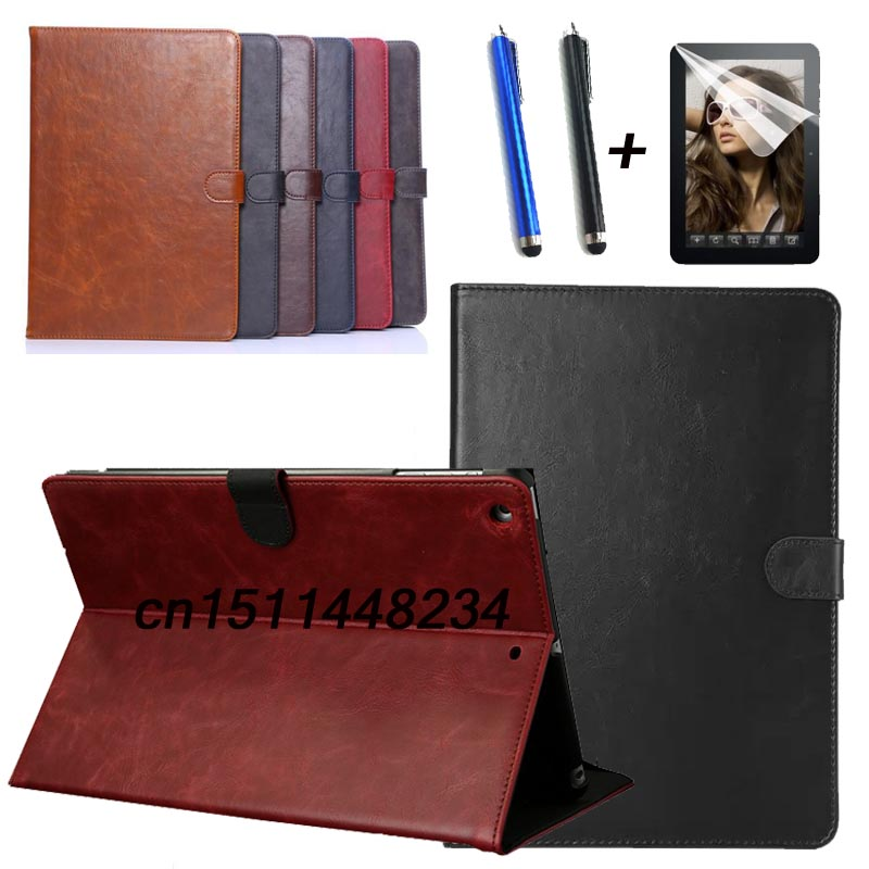 high quality fashion tablet stand Leather case cover for ipad 5 ipad air  for Apple air1 Smart case A1474 A1475 A1476 +film+pen d sub backshells 37p top ent diecast nickel plated 1 piece