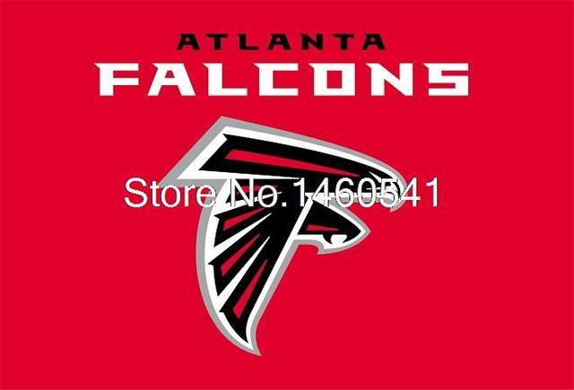 Atlanta Falcons Logo With Wordmark Flag 3ft X 5ft Polyester Nfl Team