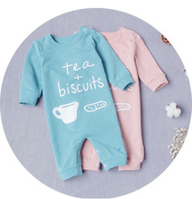 Baby rompers cotton long sleeve newborn baby boy and girls clothing TEA coffee jumpsuits outfits beb roupas  baby christmas