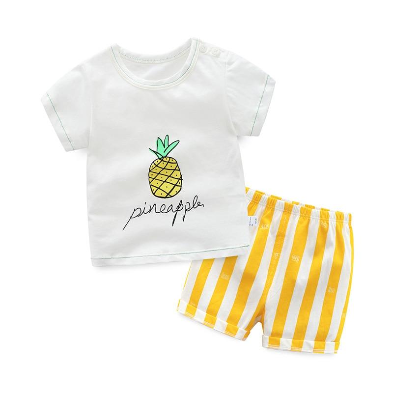 2018 dzieci letnie ubrania dla dzieci dorywczo Sport T-shirt + - Ubrania dziecięce - Zdjęcie 1