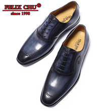 SUMMER 2019 LUXURY LEATHER SHOES MEN LACE UP OFFICE WORK FLATS HANDMADE SOLID BROGUE FORMAL POINTED TOE OXFORDS WEDDING SHOES(China)