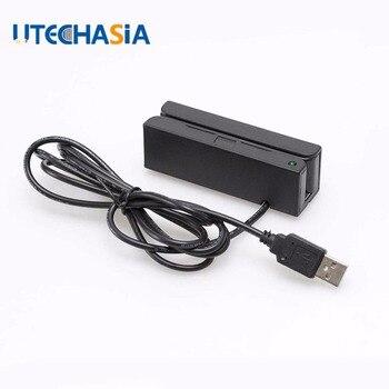 Универсальный считыватель магнитных карт MSR100 полоса USB 3 треков полоса для считывания штрих-кода из США Великобритания CN