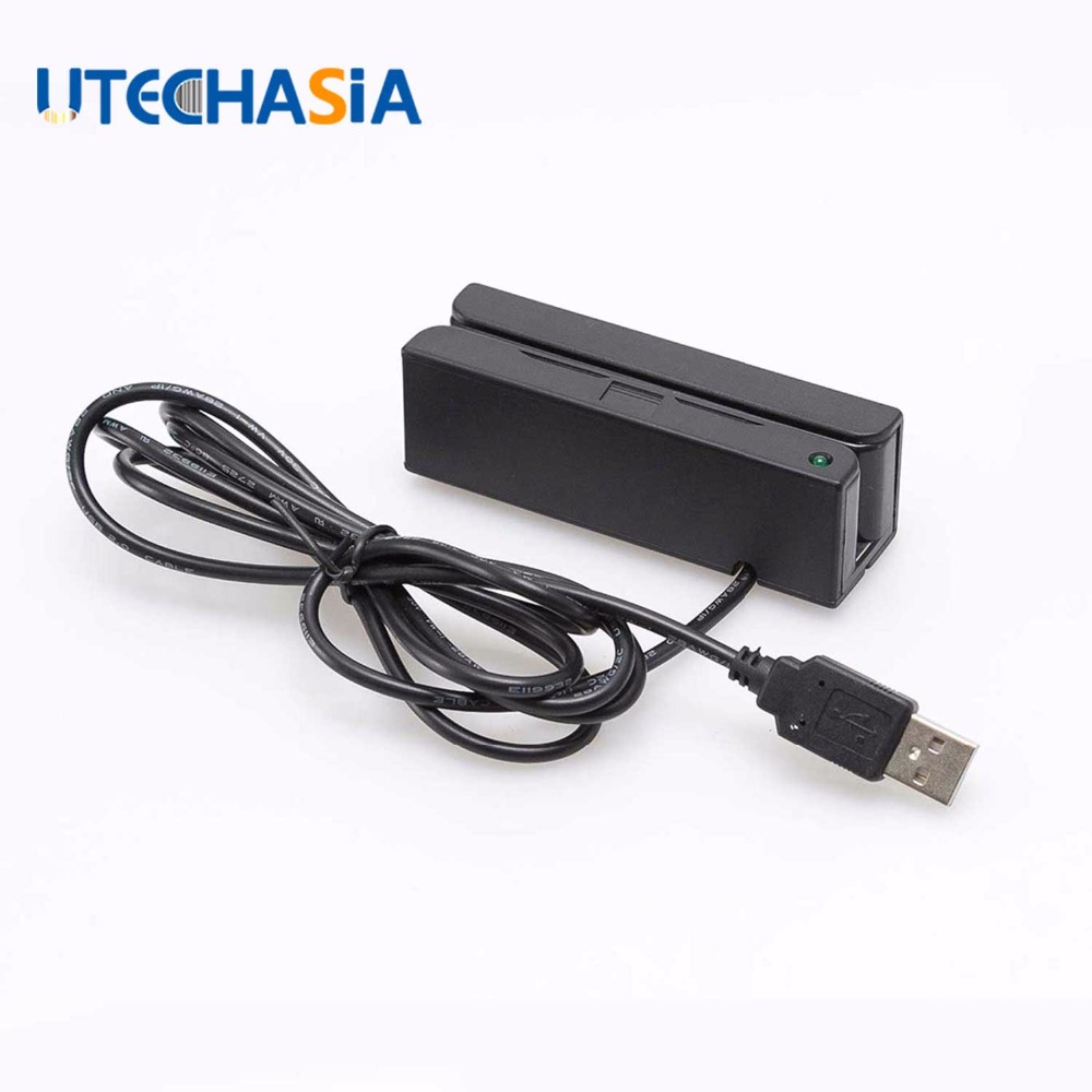 Universal Magnetic Card Reader MSR100 Stripe USB 3 Tracks Strip For Swipe Bar Code Reader From US UK CN