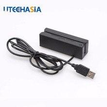 Универсальный считыватель магнитных карт MSR100 в полоску USB 3 треков полосы салфетки для считывания штрих-кода из США Великобритании CN