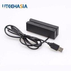 Universale Banda USB 3 Tracce lettore di Schede Magnetiche MSR100 Striscia Per Swipe Lettore di Codice a Barre Da NOI UK CN