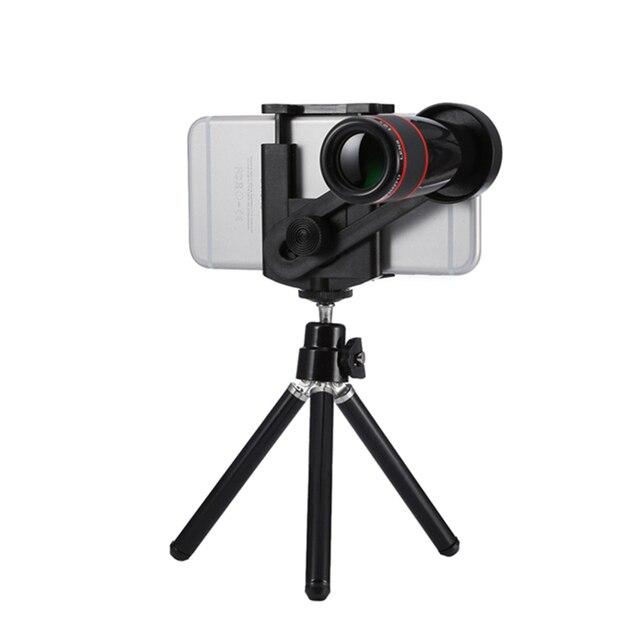 Orbmart Универсальный 12X Зум Камеры Телескопа Телескоп Мобильного Телефона Объектива + Мини-Штатив Для iPhone Samsung Galaxy Смартфонов Xiaomi Meizu