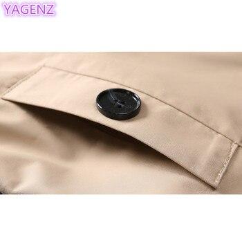 YAGENZ Plus size Trench Coat Autumn Coat Women Long Coats Windbreaker Top Double-breasted Boutique Women Clothing Fashion Coat88 6