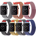 YIFALIAN For Apple Watch Band 42mm Milanese Loop Strap Link Bracelet Stainless Steel for Apple iWatch Band 42mm 38mm Black